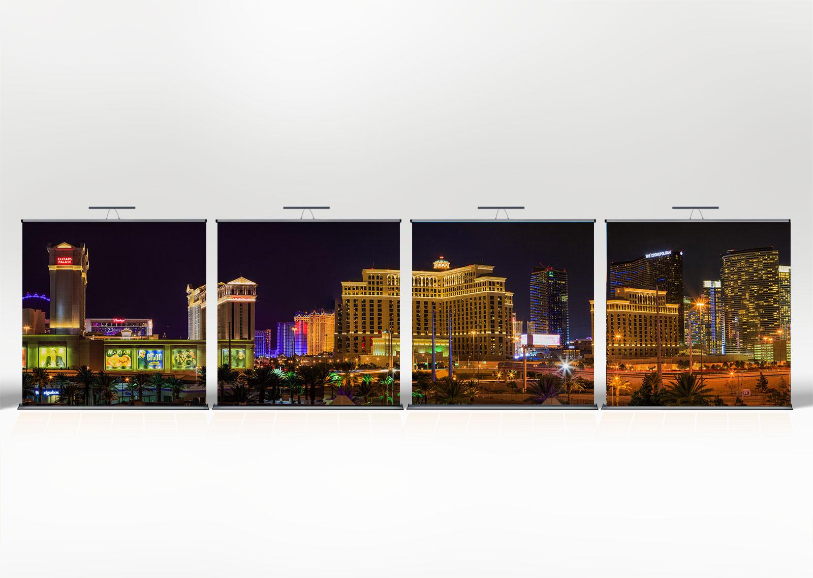 4 Mal 2×2 Meter Las Vegas Feeling Nachtvariante