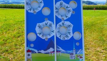 Double Cornhole Mobiler Deluxe Spielpark Events4Rent