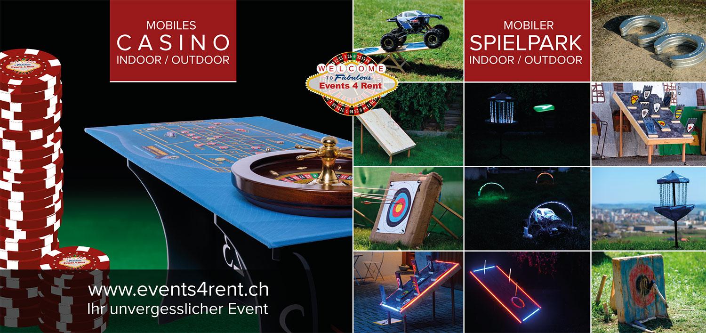 Flyer Events4rent Rueckseite